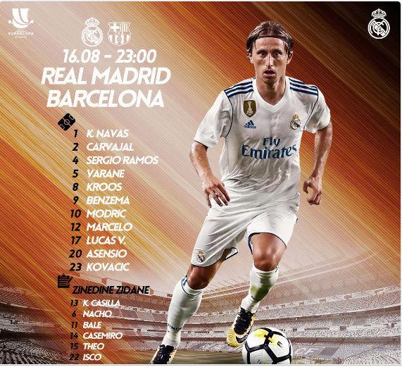 Supercopa de España. Real Madrid - Barcelona Alinea10