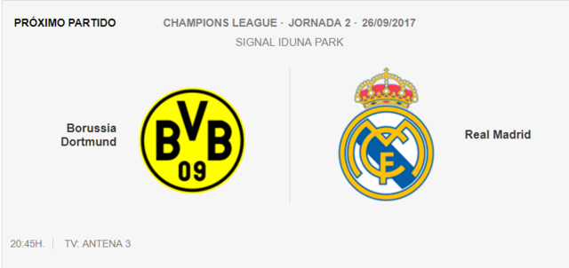 B.Dormunt-Real Madrid Cham10