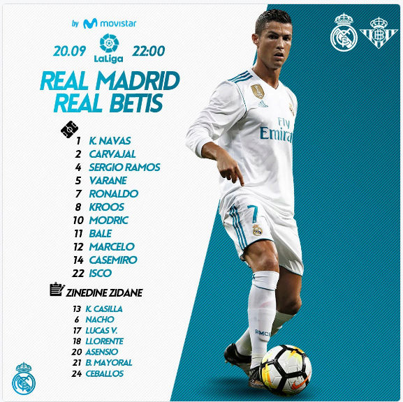 Real Madrid - Real Betis Once10