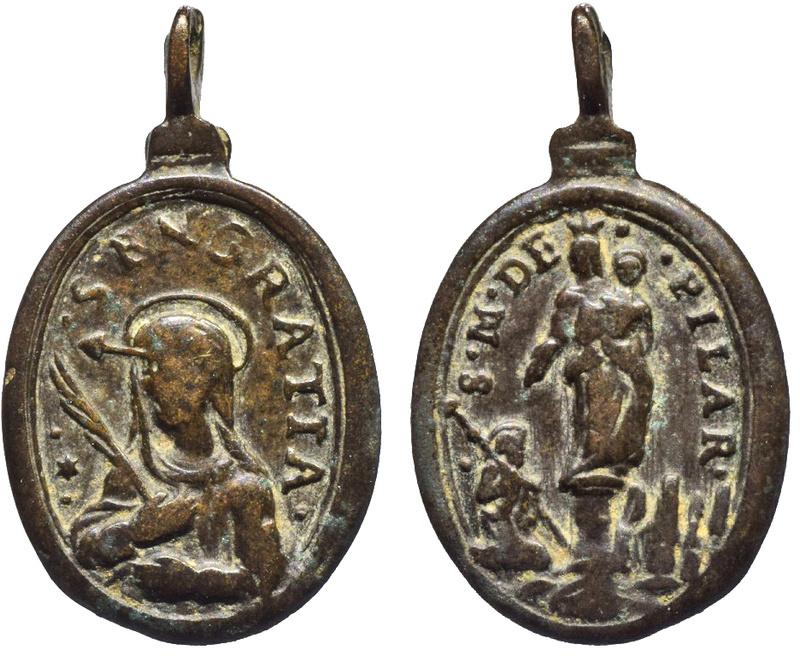 Sta Engracia de Zaragoza / Virgen del Pilar y Santiago apóstol. [R.M. S.XVII- 0440](MAM) O-30010