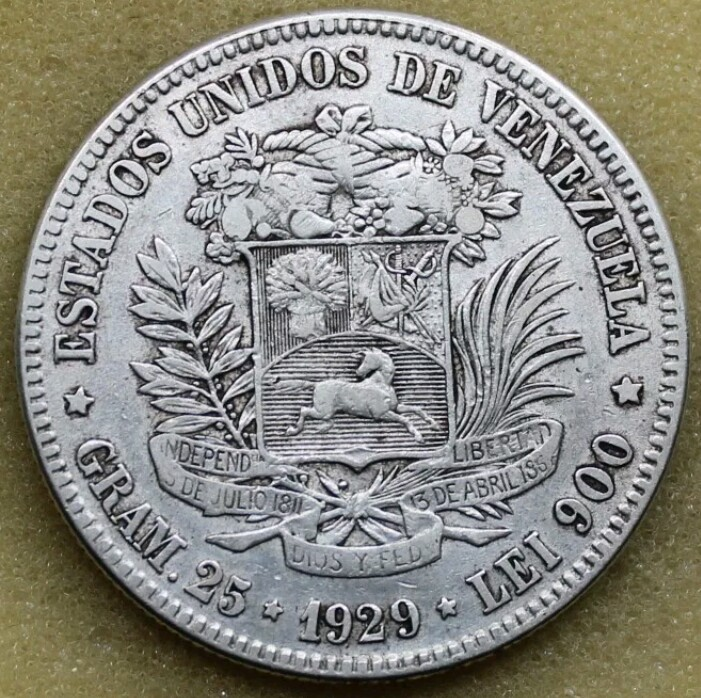 Venezuela 5 Bolívares 1929 _2017011