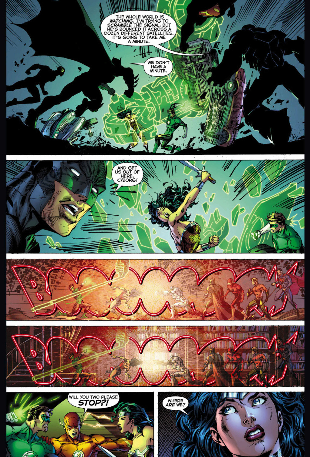 Mulher Maravilha vs Lanterna verde  Wonder10