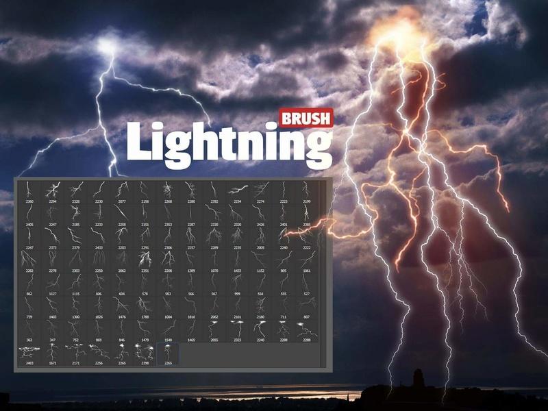 فرش فوتوشوب البرق . Brush Lightning 19243210