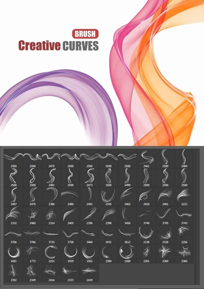 فرش فوتوشوب منحنيات ابداعية . Brush Creative Curves - صفحة 2 19575210