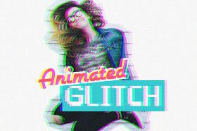 أكشن للفوتوشوب عمل تاثير متحرك على الصور | Animated Glitch Photoshop Action Free-a10