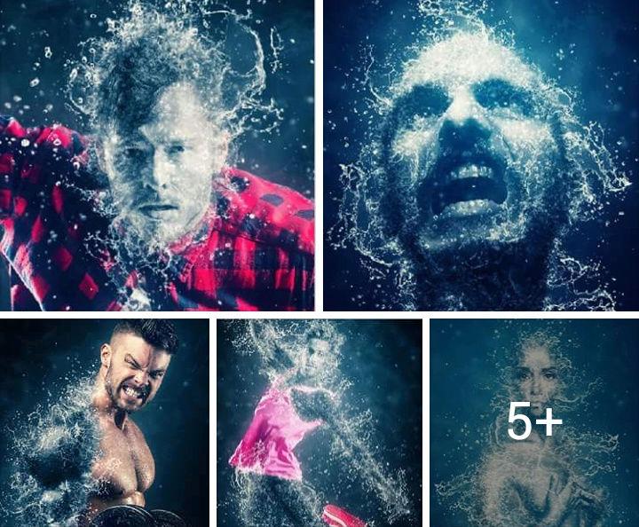 اكشن تاثير الماء على التصميم بشكل احترافي Screen18