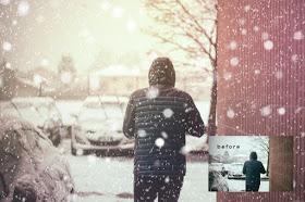 ملف PSD | إضافة تأتير تساقط الثلج على الصور Snow-o10