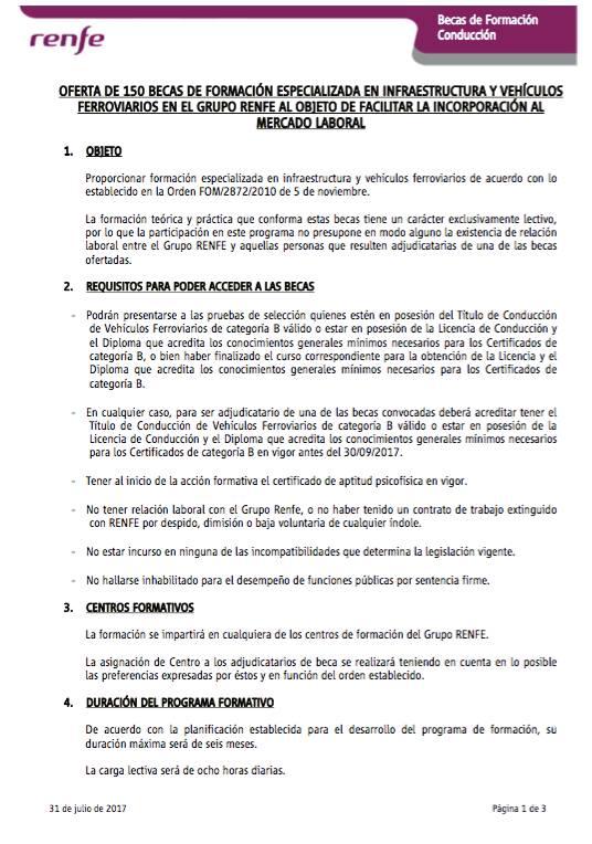 PLAN RRHH RENFE MAQUINISTAS-BECARIOS 645 € - Página 2 20525510