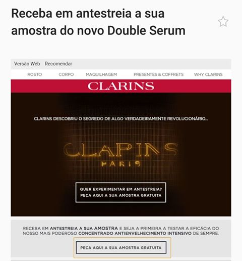 Amostra Clarins- Double Serum  20604210