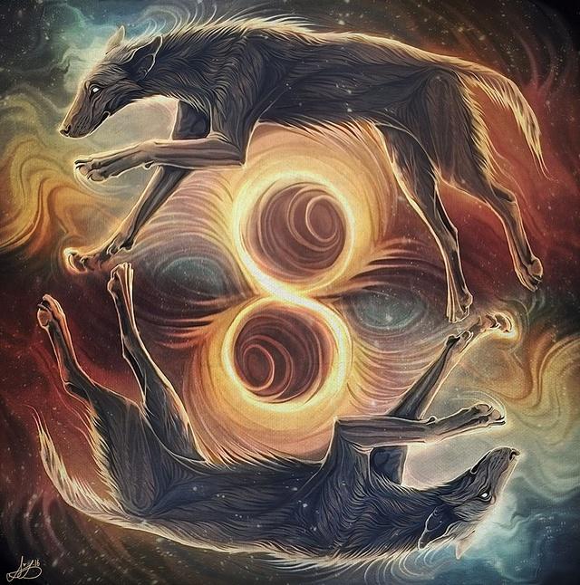 Псы (Madaigh, Cŵn) в кельтской мифологии Dajtxb10