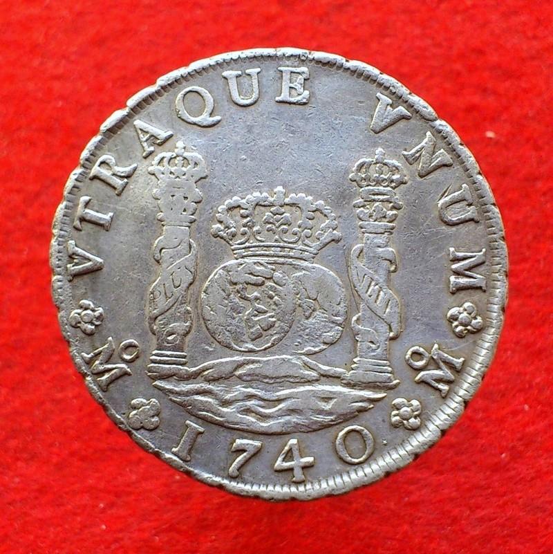 Reales columnarios, de 1 a 8, Felipe V México 1740a10