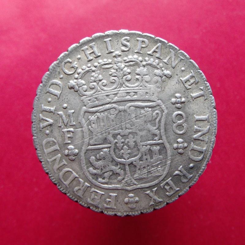Reales columnarios, de 1 a 8, Felipe V México 1752r10