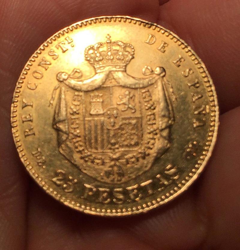 25 pesetas Alfonso XII 1878 *18-78* DE-M Photo_21