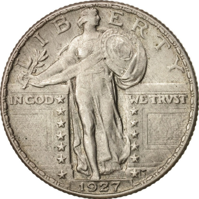 Standing Liberty Quarter, 1927.  Usa_an10