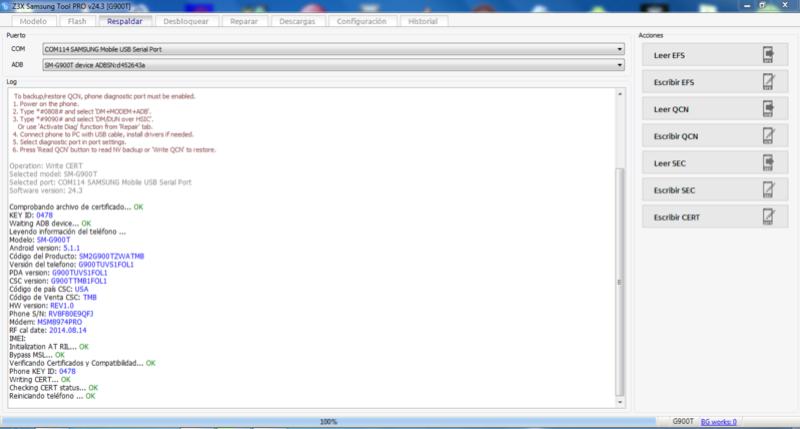 WRITE CERT SAMSUNG SM G900T  Write_11