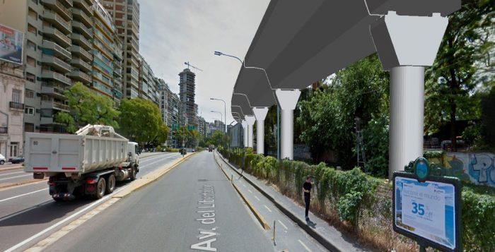 Así será el viaducto de la línea Mitre entre el Hipódromo y Belgrano 00112