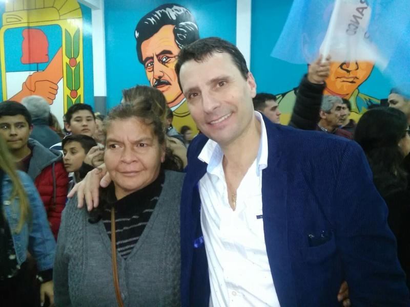 2017-07-07. Franco Laporta en San Miguel presento candidatos. Por Néstor V. González Laport10