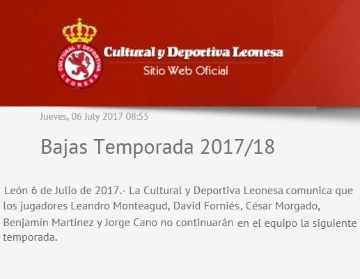 Plantillas LaLiga 1|2|3 - 2017/2018 Leones10