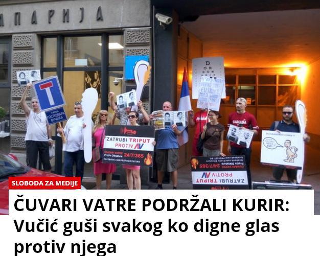 Protesti protiv Vučića Kurir10