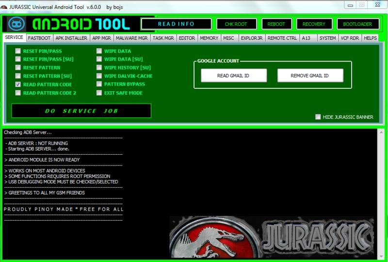 Jurassic Android tool v6.0.0 Jurass10
