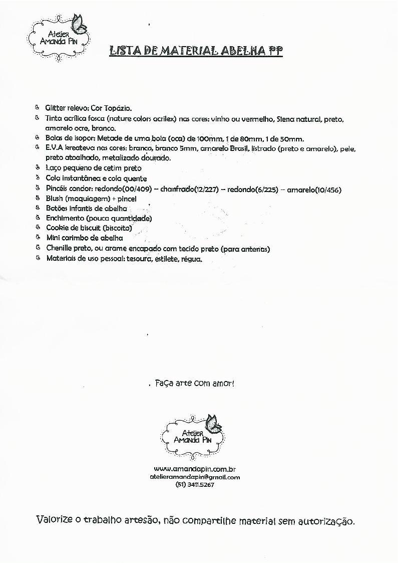 """RETO GRATIS: """"DULCERO ABEJA DE AMANDA PIN"""". Detalles, inscripcion y presentacion de la tarea  Abelha10"""