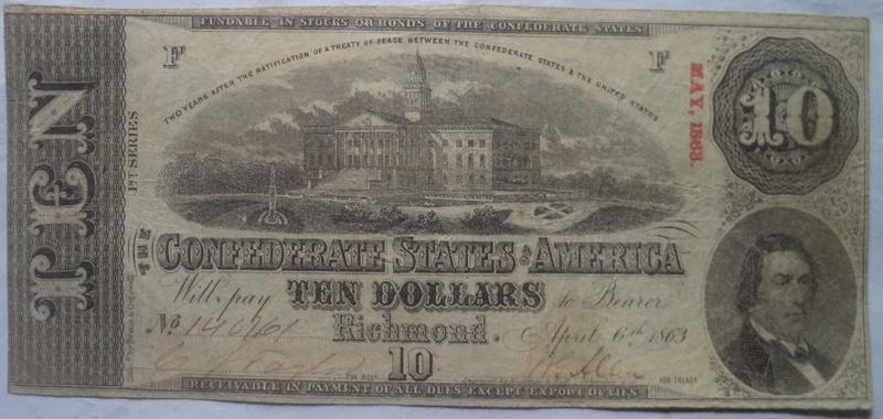 10 Dolares Estados Confederados de America, 1863 1_10