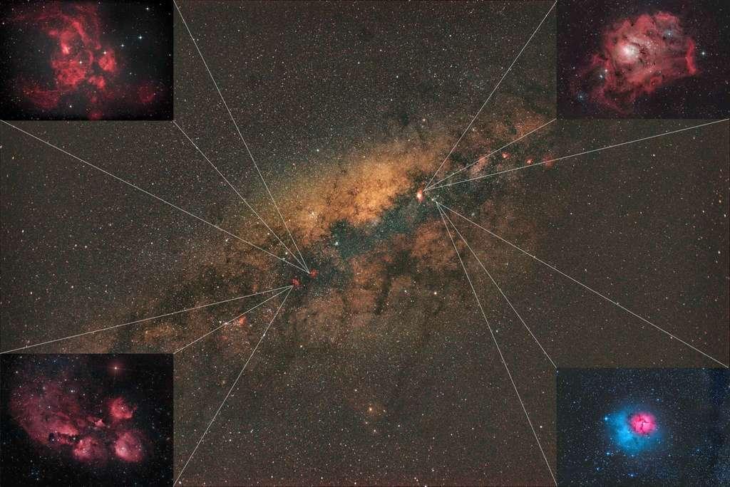 Via Láctea e Nebulosas. Quadro10