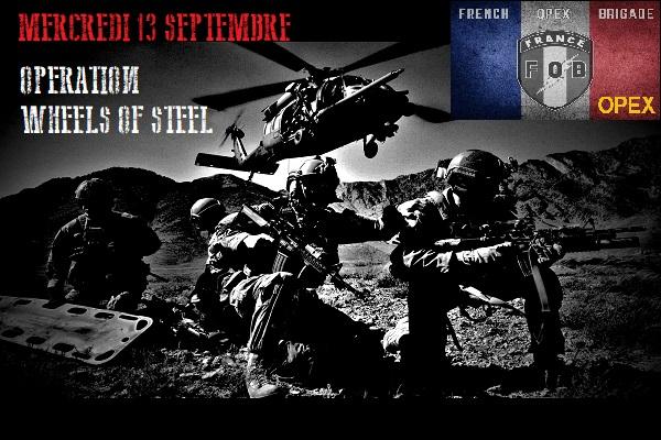 OPEX WHEELS OF STEEL mercredi 13 septembre 20h30 sur TS 31629110