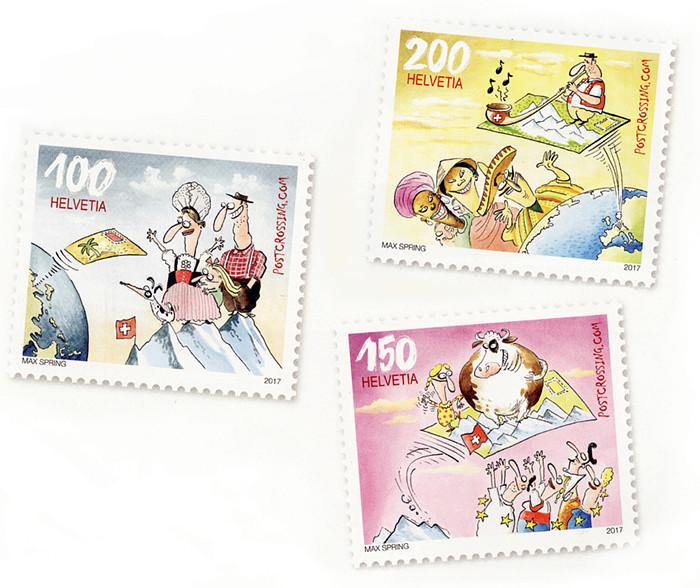 MINICOLECCIÓN - Sellos dedicados a Postcrossing Postcr10