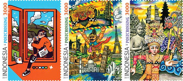 MINICOLECCIÓN - Sellos dedicados a Postcrossing Stamp-10