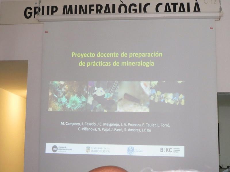 Presentació del Projecte Twin Collections de la Universitat de Barcelona al local social del Grup Mineralògic Català  111