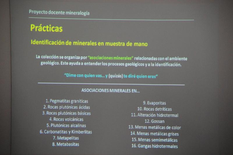 Presentació del Projecte Twin Collections de la Universitat de Barcelona al local social del Grup Mineralògic Català  710