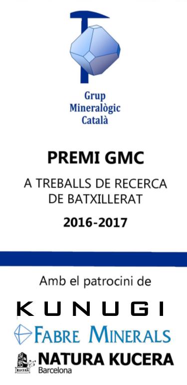 2016 - GUANYADOR del Premi GMC a Treballs de Recerca de Batxillerat 2016-17 Tripti10