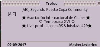 Queja Awards Trofeo10