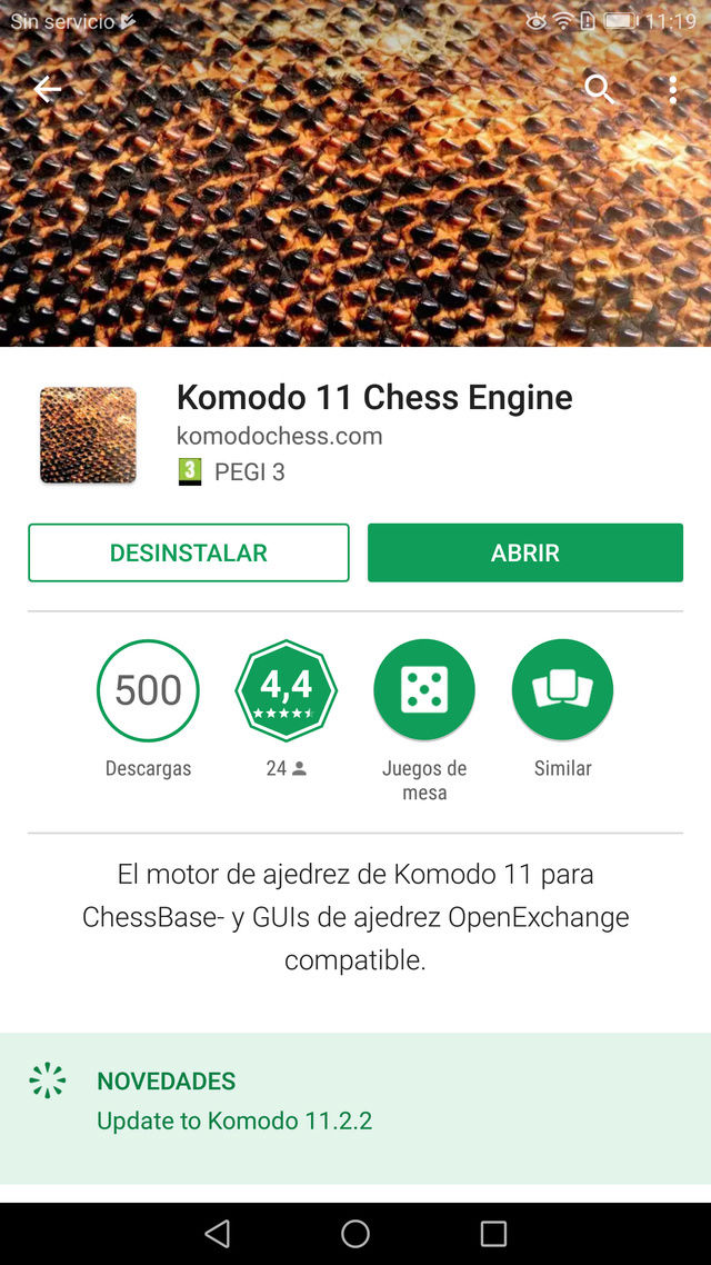 El Komodo 11.2.2, ya disponible en Android !!! Screen22