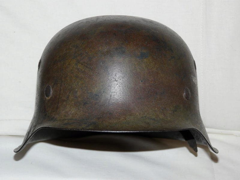 Casque Luftwaffe camouflé Feld-division Normandie Thumbn10