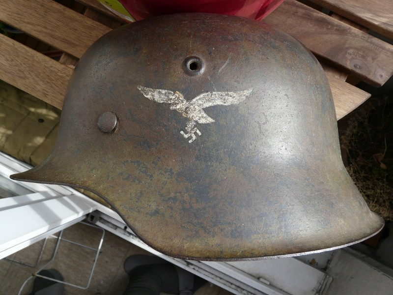 Casque Luftwaffe camouflé Feld-division Normandie Thumbn12