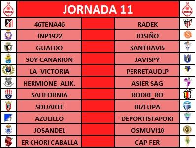 PRONÓSTICOS JORNADA 11 (S14 y D15 octubre 2017). + CARRUSEL. J1110