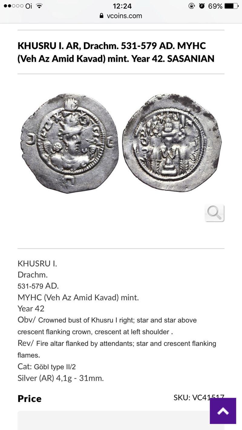 Dracma de Cosroes I. Año 44 de reinado. Ceca YZ (Yazd en Fars). Img_2310