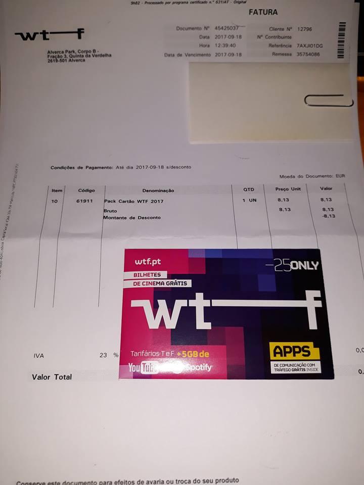 Amostras WTF - Cartões com 25 euros de Saldo - 21558610