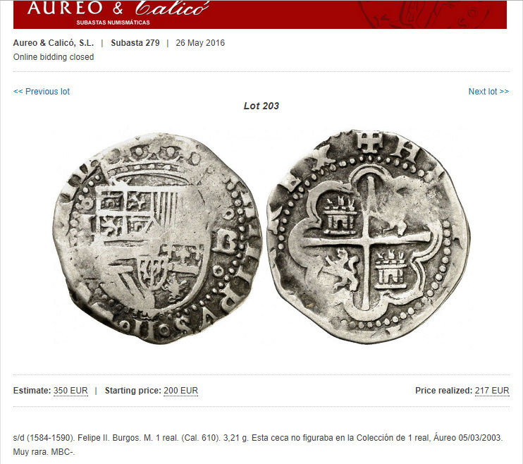 2 reales Felipe III - 1619 - Burgos Sin_ty10