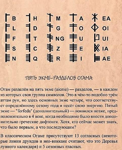 Огам Друидов  114