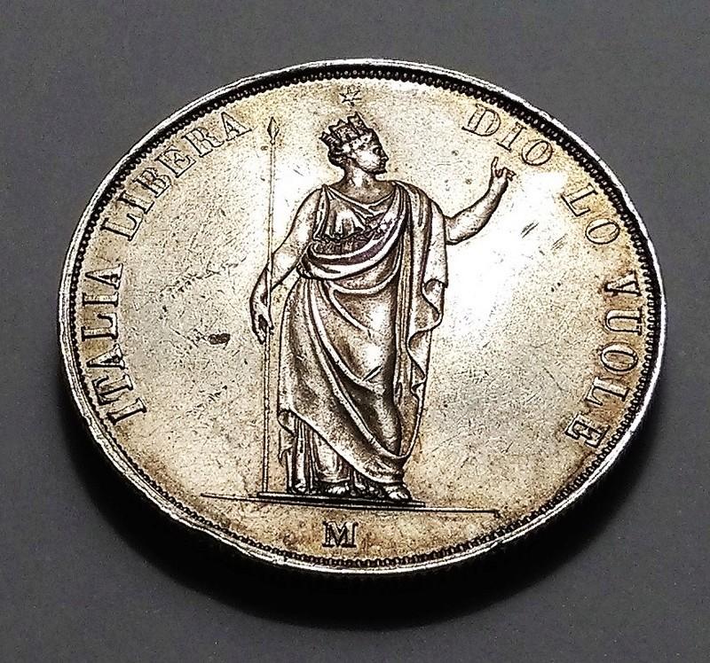 5 liras, Gobierno Provisional de Lombardía, 1848 Img_2047