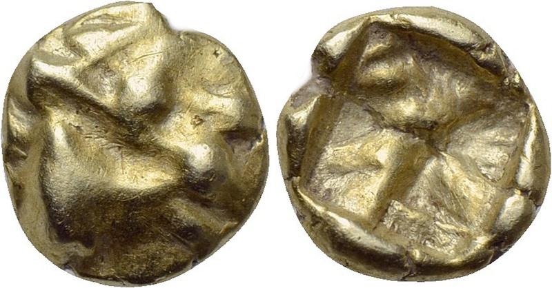 Jonia. Ceca desconocida. 1/48 de estatera de electro. (ca. 600-550 a.C). 27010