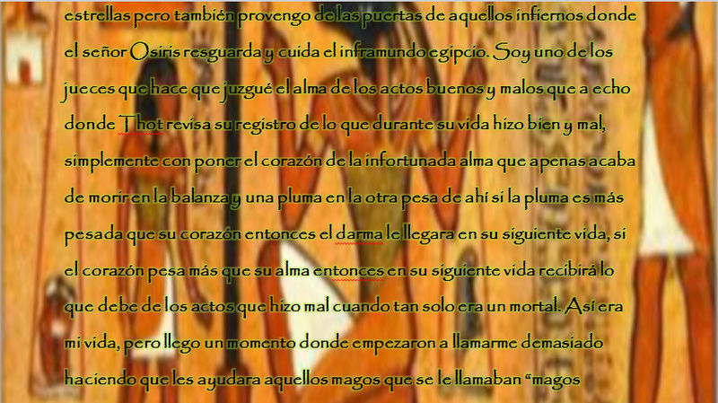 Anubis la llave dorada Egipcia, el Juez Histor11