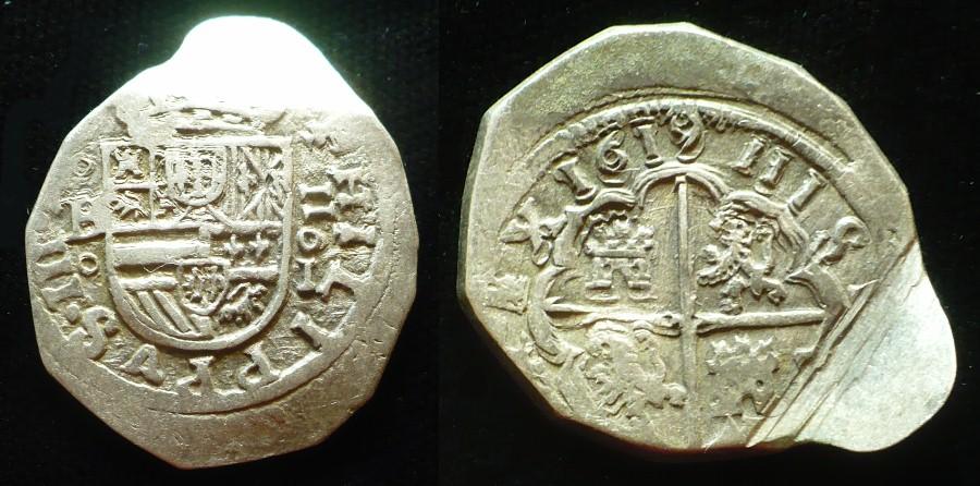 2 reales Felipe III - 1619 - Burgos 2710
