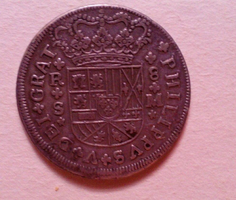 8 reales de Felipe V 1718, Sevilla _5810