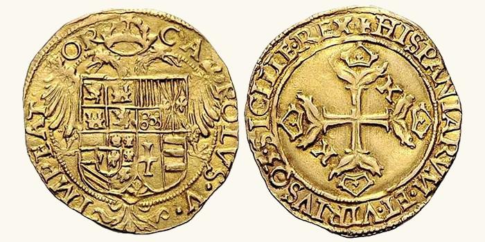 Los orígenes de la onza española: los escudos de 1535 con Carlos I Images10