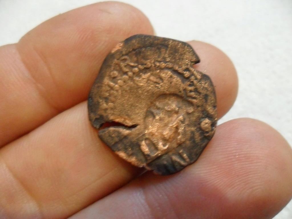 2 Maravedis (ochavo) de Felipe II resellados posteriormente a IIII mrvs. de 1603,  VI mrvs. de 1636 y IIII mrvs. de 1654-5. Sam_3723