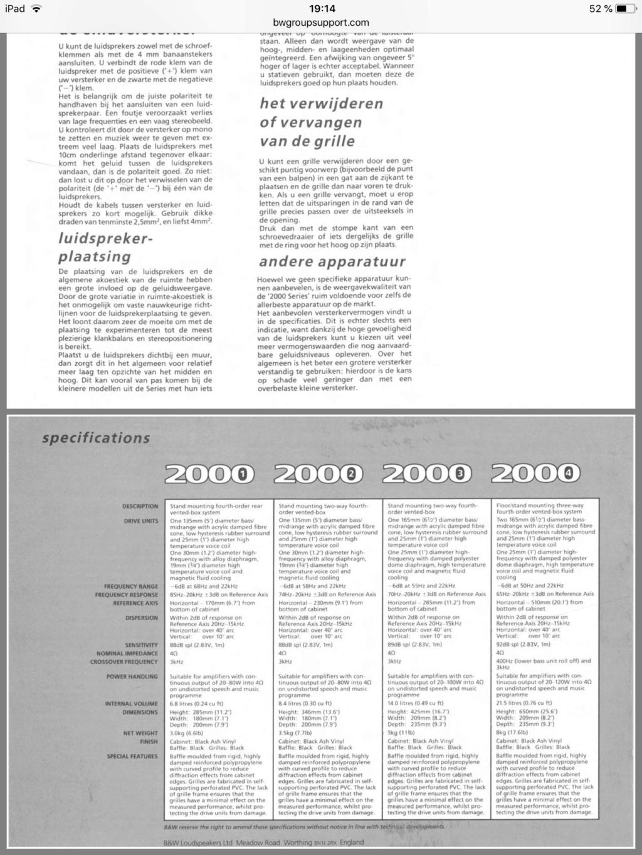 En qué años se fabricó la Serie 2000 de cajas B&W ?? Fc341d10